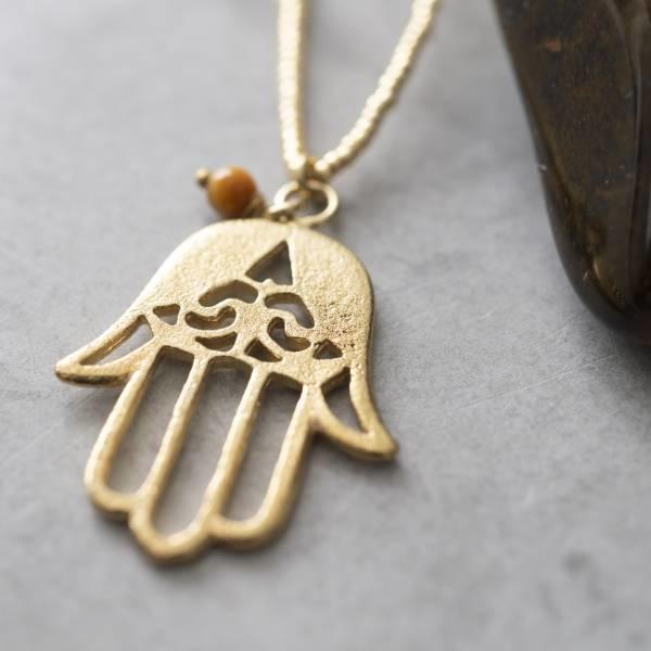 Ketting Paradise Tiger Eye Gold Necklace-2