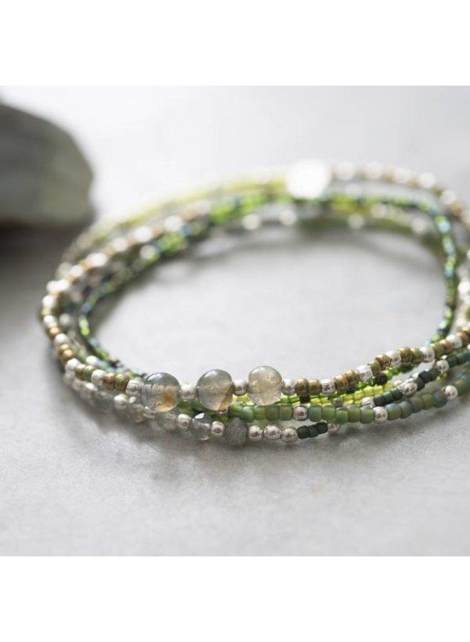 Armband Together Labradorite Silver Bracelet