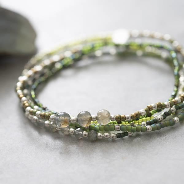 Armband Together Labradorite Silver Bracelet-2