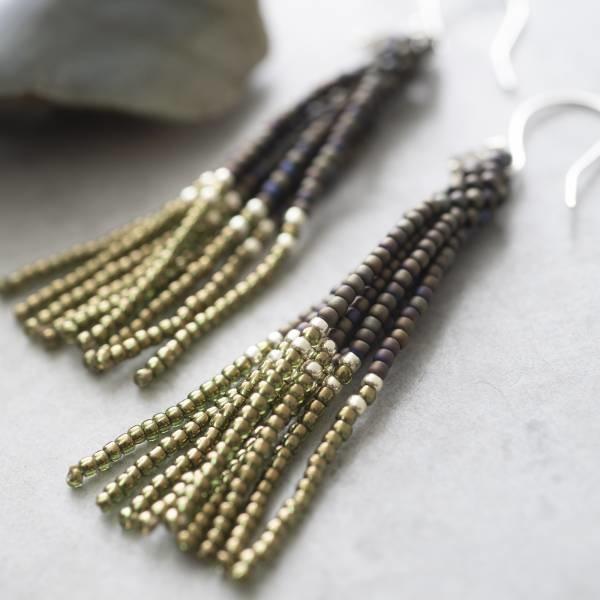 Oorbellen per paar  Dream Labradorite Silver Earrings-2