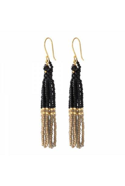Oorbellen per paar  Dream Black Onyx Gold Earrings