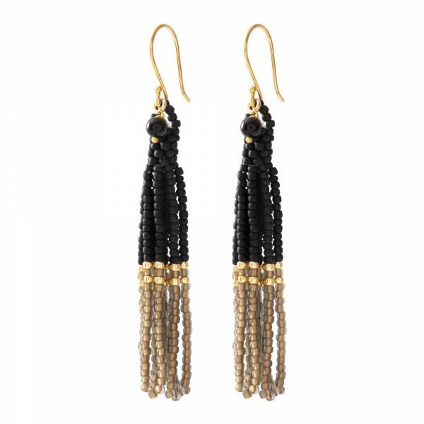 Oorbellen per paar  Dream Black Onyx Gold Earrings-1