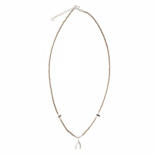 Ketting Wildflower Smokey Quartz Silver Necklace-3