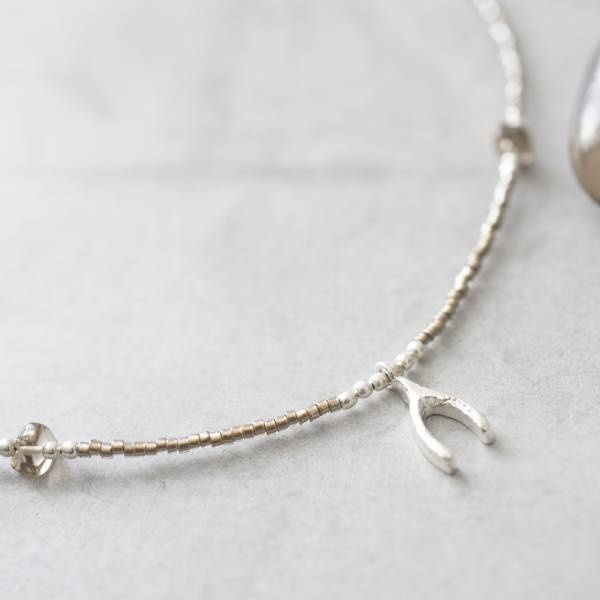 Ketting Wildflower Smokey Quartz Silver Necklace-2