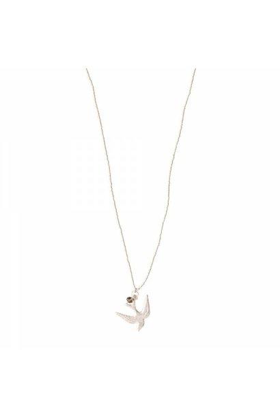 Ketting Paradise Smokey Quartz Silver Necklace