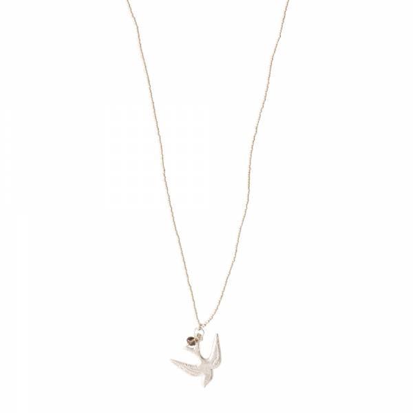 Ketting Paradise Smokey Quartz Silver Necklace-1