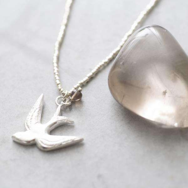 Ketting Paradise Smokey Quartz Silver Necklace-2
