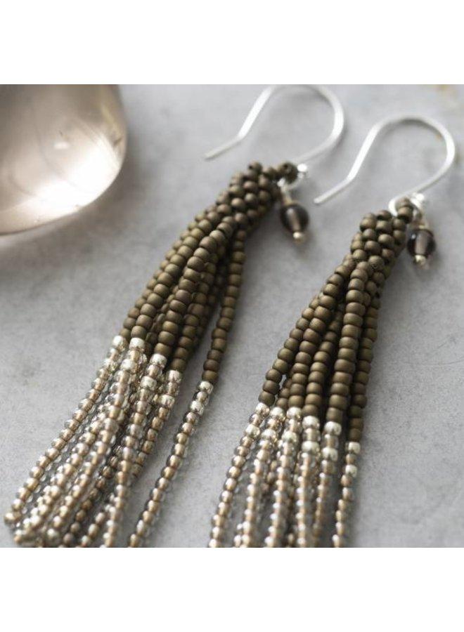Oorbellen per paar Dream Smokey Quartz Silver Earrings