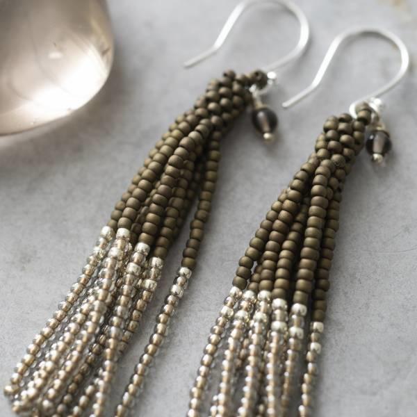 Oorbellen per paar Dream Smokey Quartz Silver Earrings-2