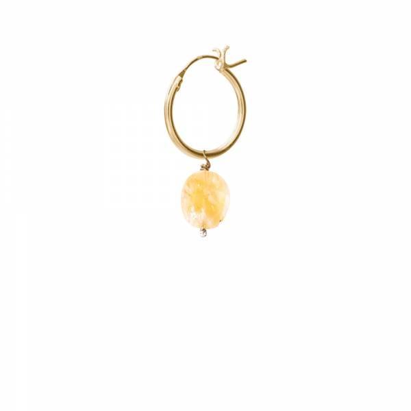 Oorbel per stuk Citrine Gold Hoop Earring-1