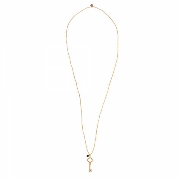 Ketting Paradise Black Onyx Gold Necklace-3