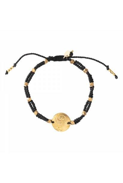 Armband Gratitude Black Onyx Gold Bracelet