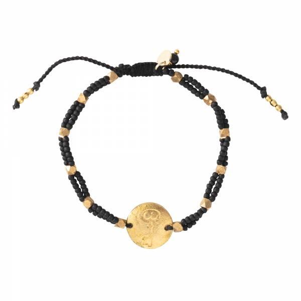 Armband Gratitude Black Onyx Gold Bracelet-1