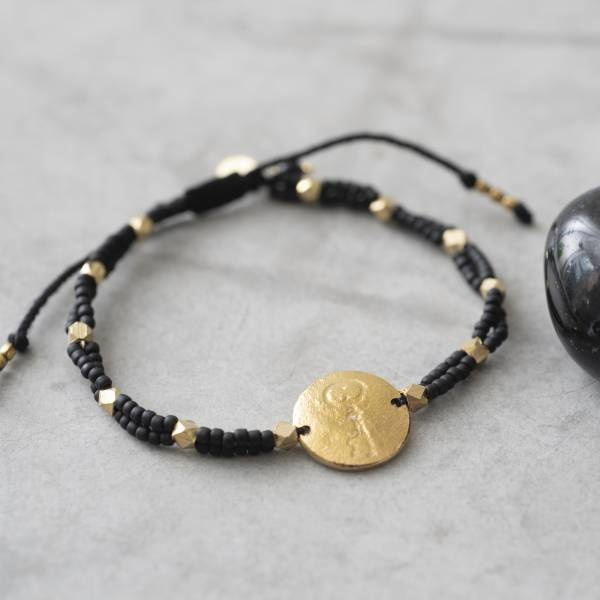 Armband Gratitude Black Onyx Gold Bracelet-2