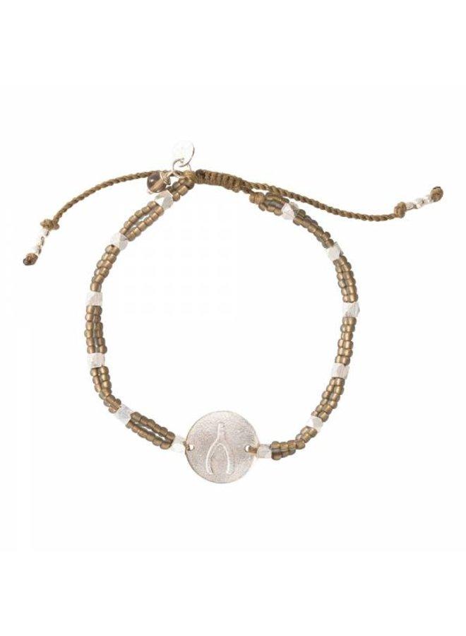 Armband Gratitude Smokey Quartz Silver Bracelet