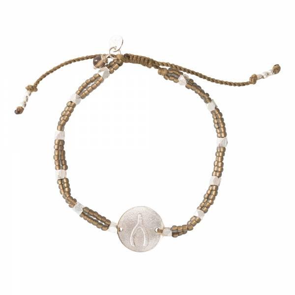 Armband Gratitude Smokey Quartz Silver Bracelet-1