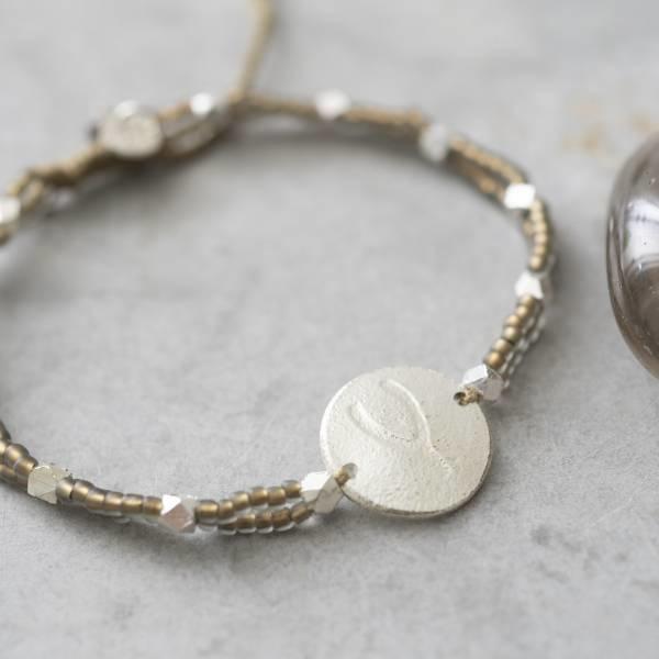 Armband Gratitude Smokey Quartz Silver Bracelet-2