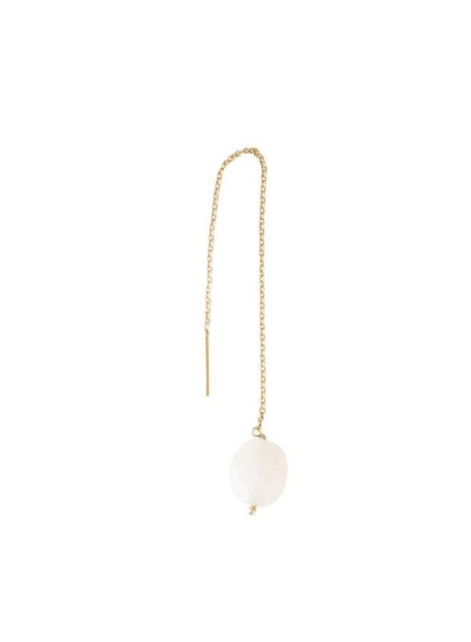 Oorbel per stuk Elegant Moonstone Gold Earring