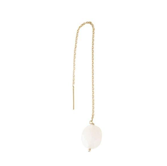 Oorbel per stuk Elegant Moonstone Gold Earring-1