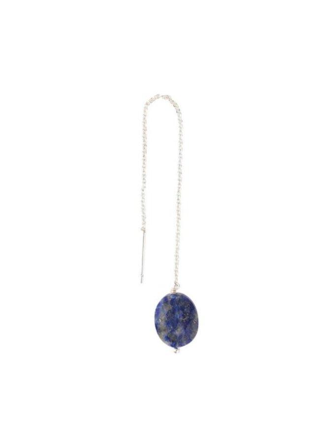 Oorbel per stuk Elegant Lapis Lazuli Silver Earring