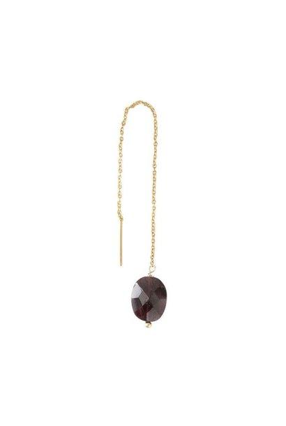 Oorbel per stuk Elegant Garnet Gold Earring