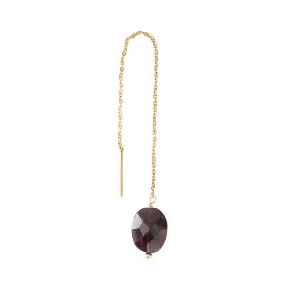 Oorbel per stuk Elegant Garnet Gold Earring-1