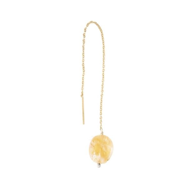 Oorbel per stuk Elegant Citrine Gold Earring-1