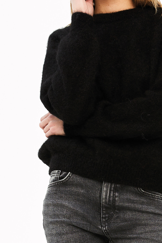 Trui lana organic pullover Black-4