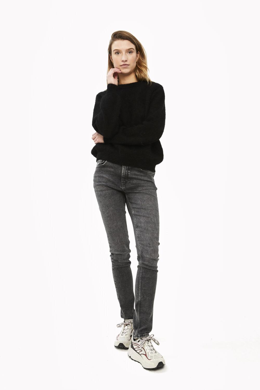Trui lana organic pullover Black-1