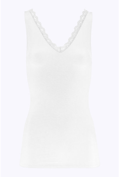 Top lace singlet off white