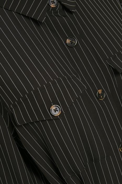 Jurk kagaye shirt dress black pinstripe-6