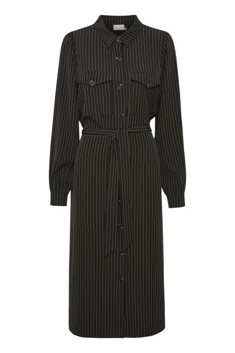 Jurk kagaye shirt dress black pinstripe-4
