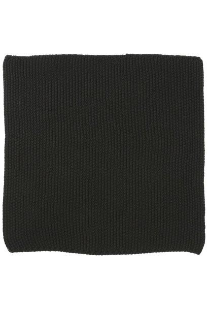 Vaatdoek Mynte pure black knitted