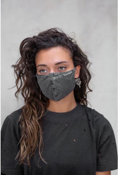 Mondkapje Mask washed grey