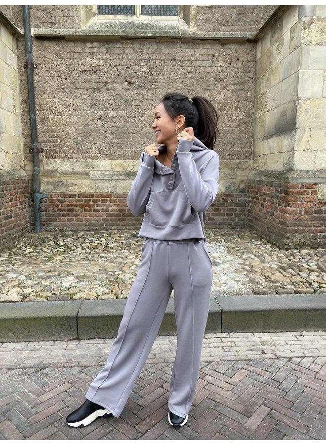Broek Yascomo sweatpants medium grey melange