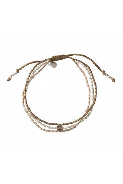 Armband Bloom Smokey Quartz Silver Bracelet