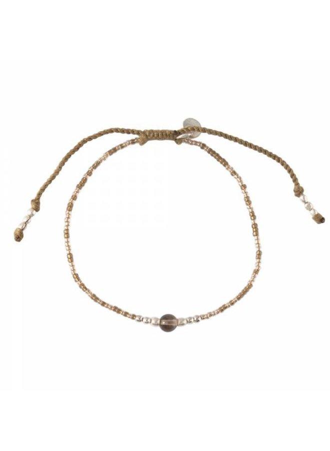 Armband Iris Smokey Quartz Silver Bracelet