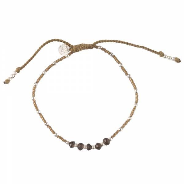 Armband Family Smokey Quartz Silver Bracelet-1