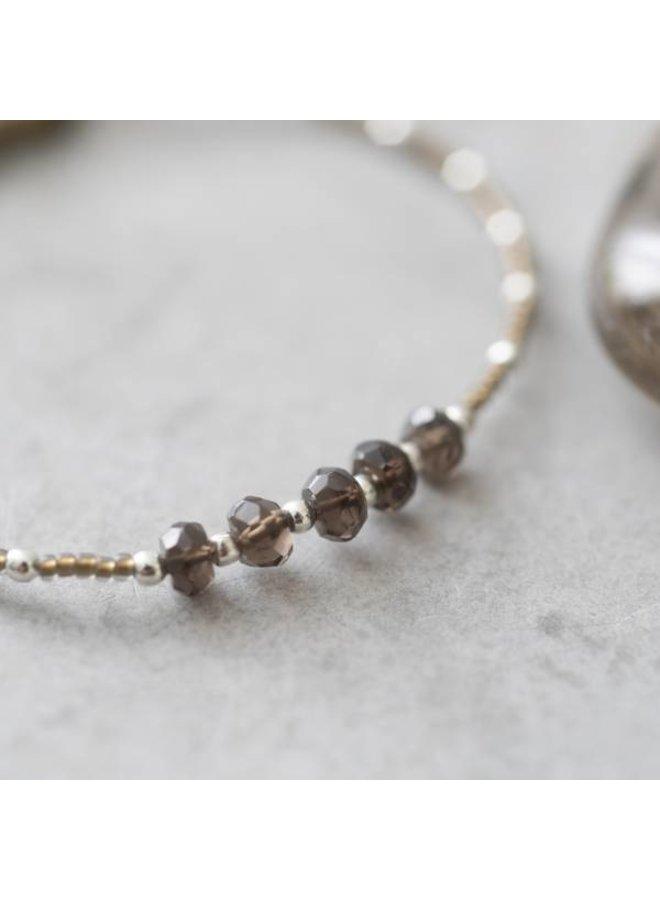 Armband Family Smokey Quartz Silver Bracelet