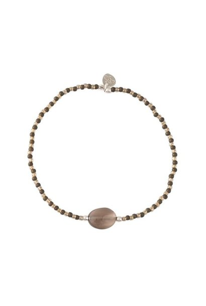Armband Winter Smokey Quartz Silver Bracelet