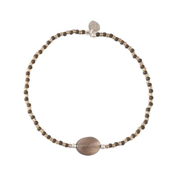 Armband Winter Smokey Quartz Silver Bracelet-1