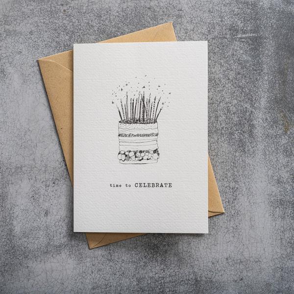 Kaart Greeting Card Cake-2