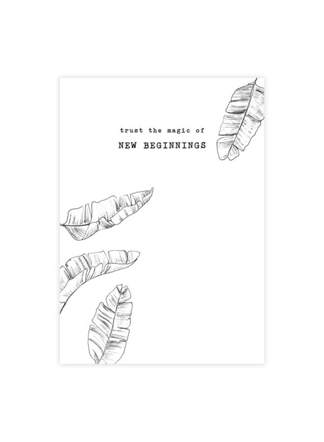 Kaart Greeting Card Leaves