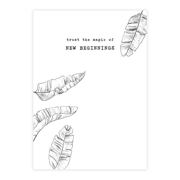Kaart Greeting Card Leaves-1