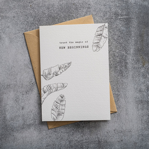 Kaart Greeting Card Leaves-2