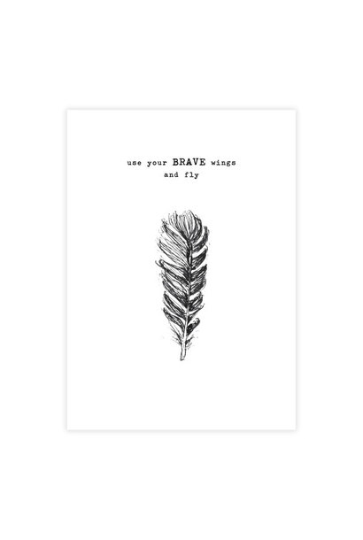 Kaart Greeting Card Feather