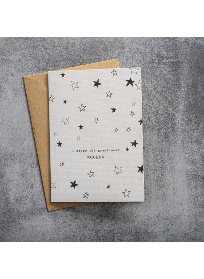 Kaart Greeting Card Stars