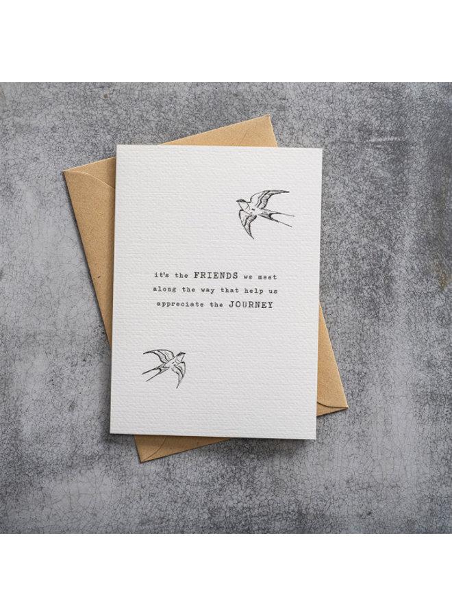 Kaart Greeting Card Swallow