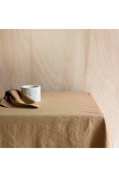 Tafelkleed Washed Linen Tabac 175x250
