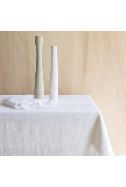 Tafelkleed Washed Linen Snow 175x250